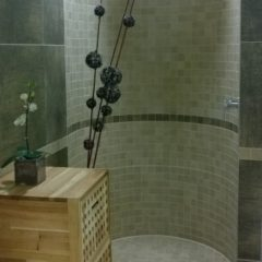 koupelna po rekonstrukci otevřený sprchový kout