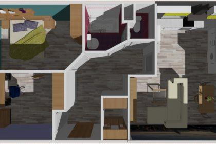 3D vizualizace celého bytu