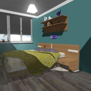 3D vizualizace ložnice