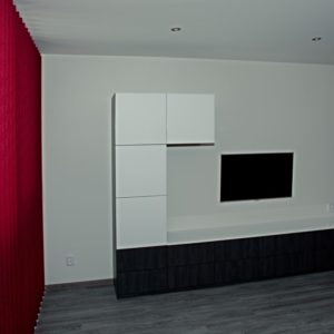 po rekonstrukci - obývací sestava