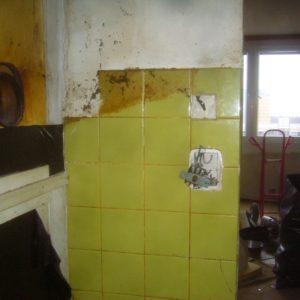 před rekonstrukcí - elektro v kuchyni