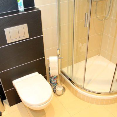 ubytrování zdarma - WC a sprchový kout