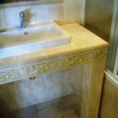 koupelna po rekonstrukci zděný pult