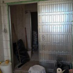 rekonstrukce bytu - stavební pouzdro pro posuvné dveře