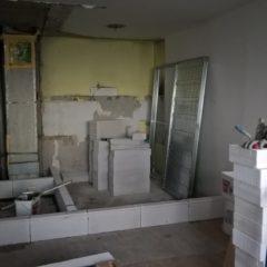 rekonstrukce bytu - zakládání příček
