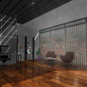 3D vizualizace kanceláře