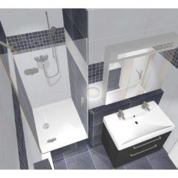3D vizualizace koupelny se sprchovým koutem