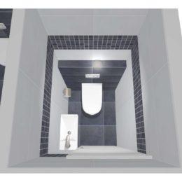 3D vizualizace WC s umývátkem